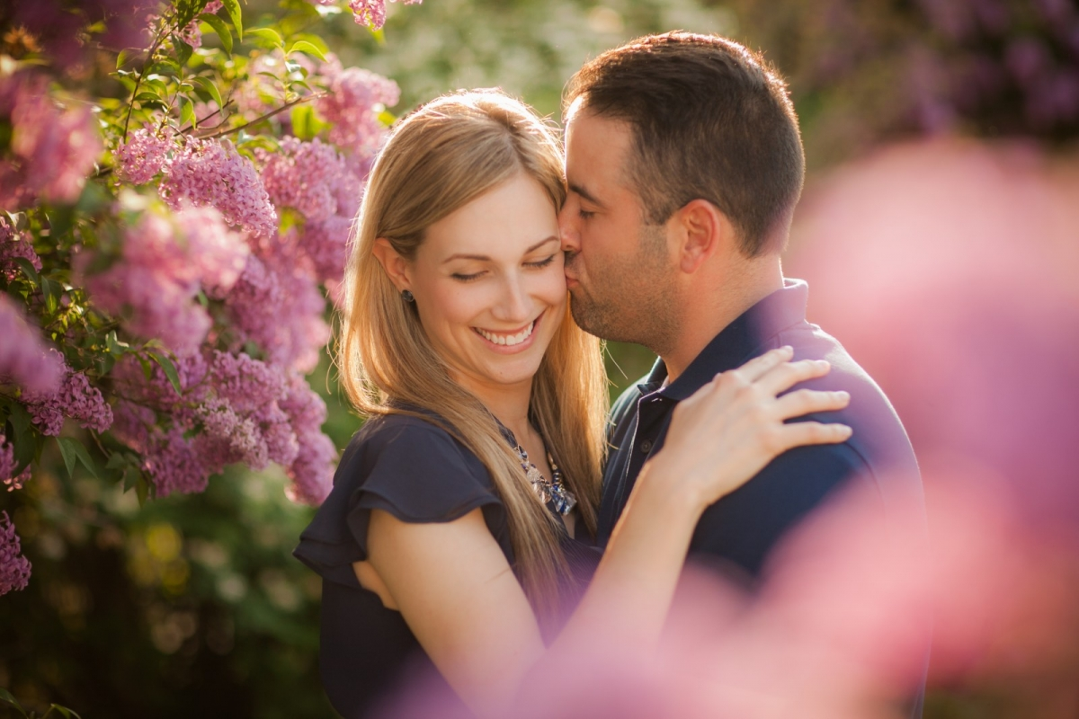 Adriana and Matt: lilacs and sunsets