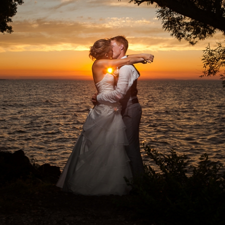 Alex and Emily: above the lake Wedding