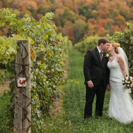 Christine and Mark: fall down on the escarpment Wedding
