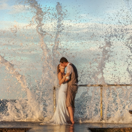 Kat and Dan: wave breakers Wedding