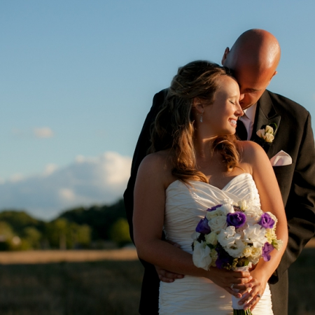 Lindsay and Andrew: far, a field Wedding