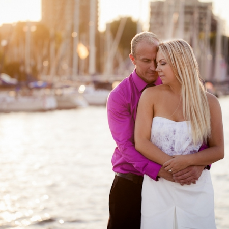 Lisa and Greg: downtown and the bay Engagement