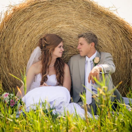 Matthew and Morgan: in fields Wedding