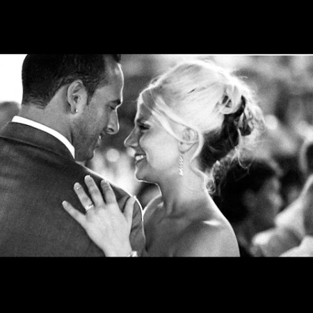 Nick & Montanna: sun set stage WeddingCinema