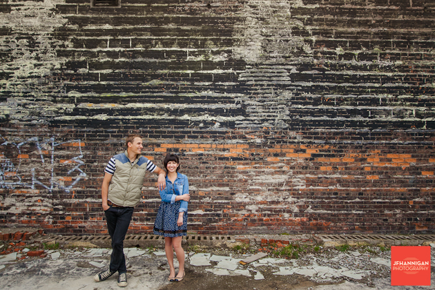 Brick Wall Engagement shoot Hamilton Ontario