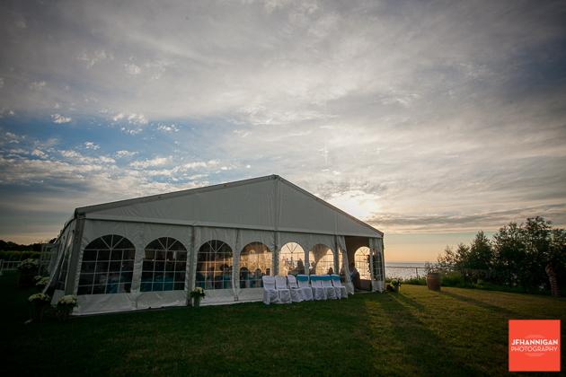 niagara, wedding, photographer, joel, hannigan, legends estate winery, tent, sunset