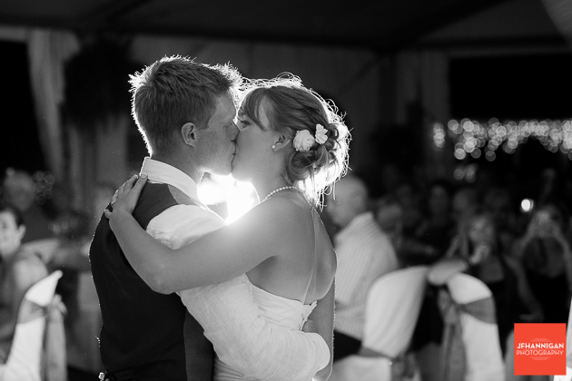 niagara, wedding, photographer, joel, hannigan, legends estate winery, bride, groom, kiss, frist, dance