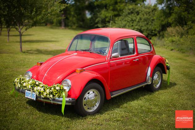 niagara, wedding, photography, joel, hannigan, balls falls, bug, vw, red, beetle