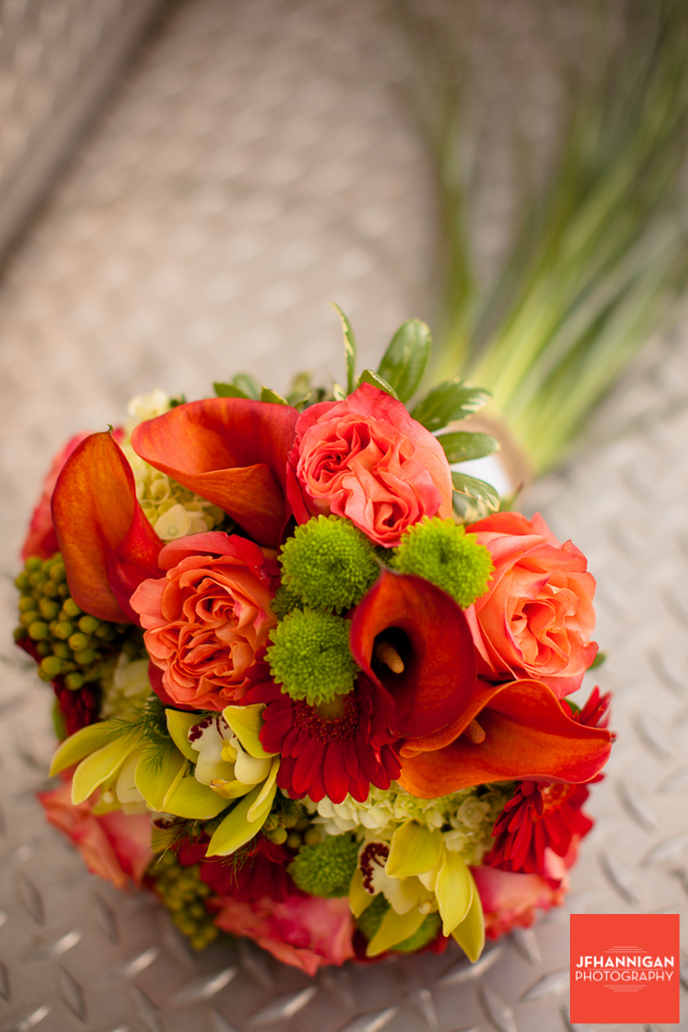 fall color bridal bouquet