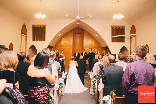 wedding at Stevensville United Brethren Church