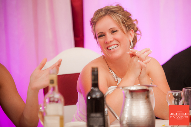 bride at reception Niagara Wedding Photographer
