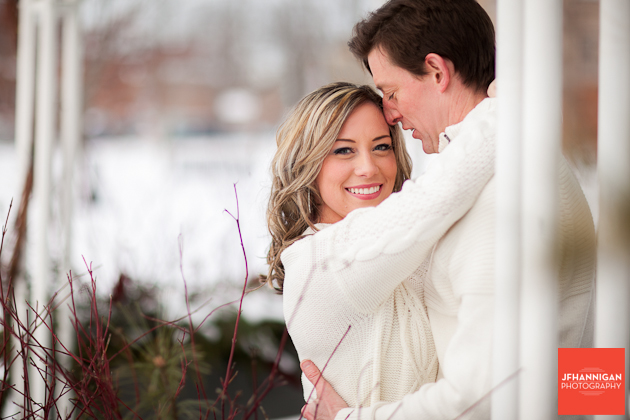 engagement shoot in white