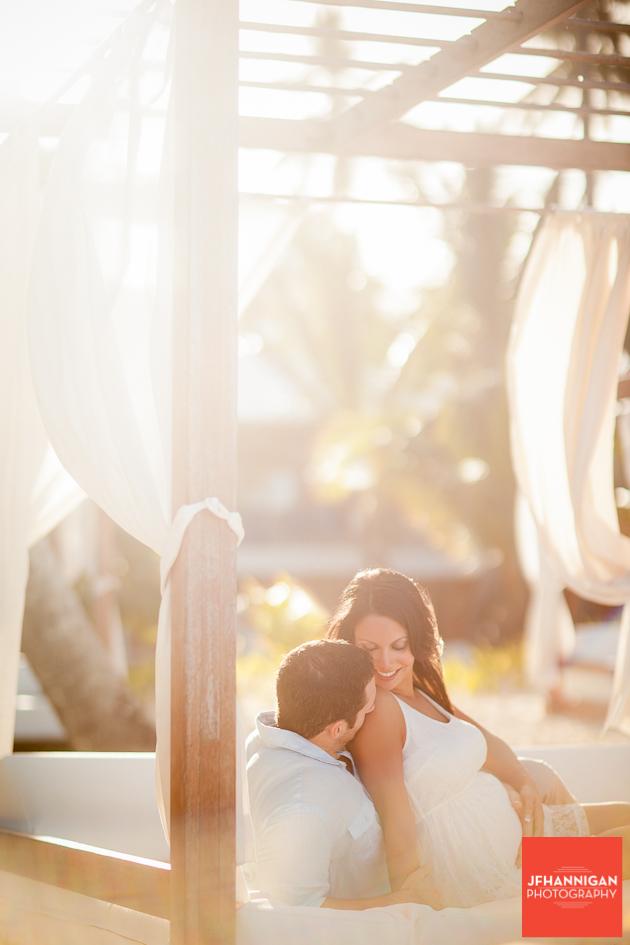maternity shoot in Punta Cana
