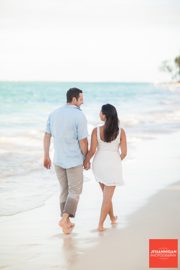 couple walking on Punta Cana Beach