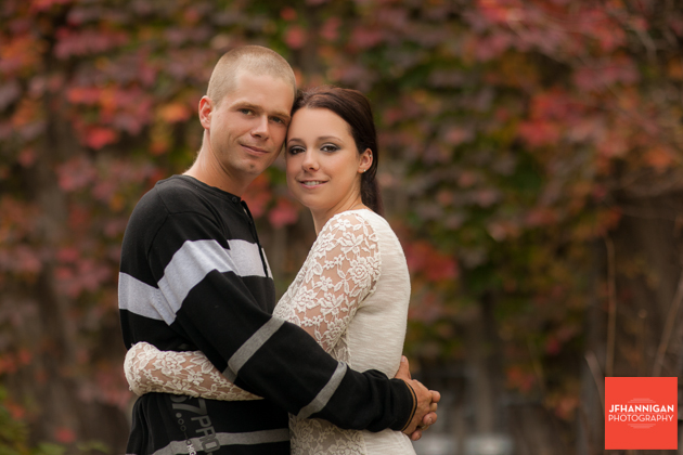couple portrait with fall colors