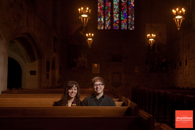 church pews, Ridley College, Engagement Photo Shoot, Bride and Groom to Be, Niagara Wedding Photographer, Niagara Wedding Photography