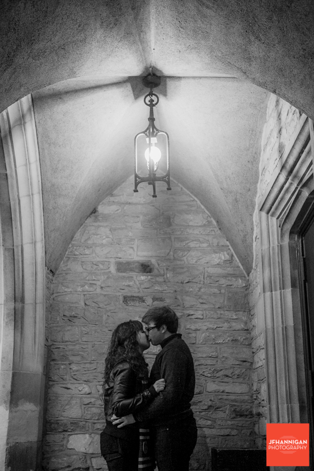archway, lamp, brick wall, Ridley College, Engagement Photo Shoot, Bride and Groom to Be, Niagara Wedding Photographer, Niagara Wedding Photography