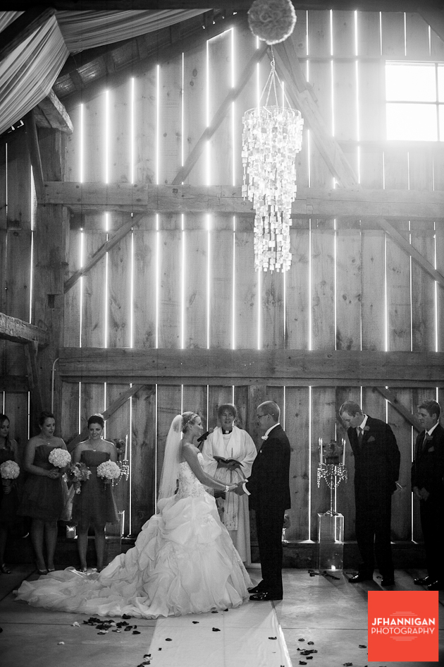 bride and groom exchange vows