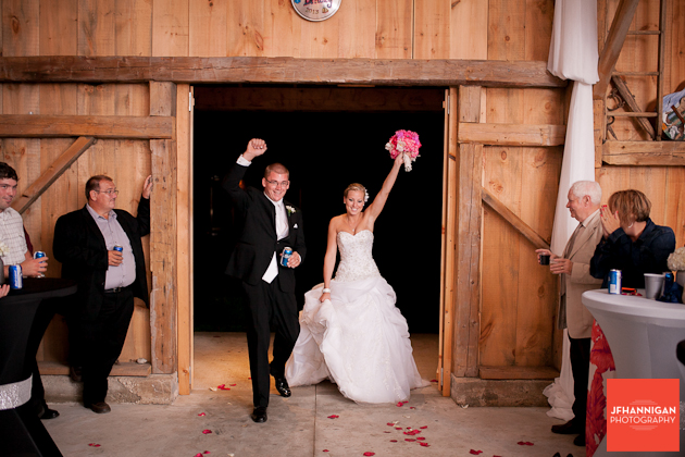 bride and groom's entrance to reception
