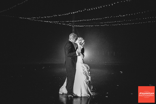 first dance outside under lights