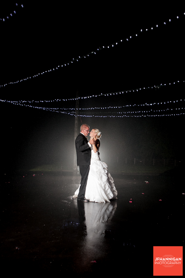 outside nighttime first dance