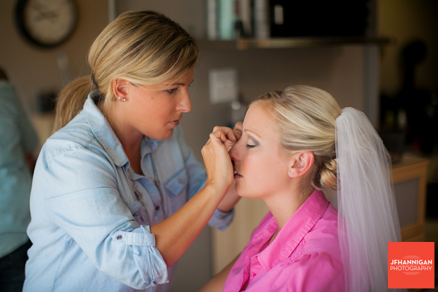 bride's make-up