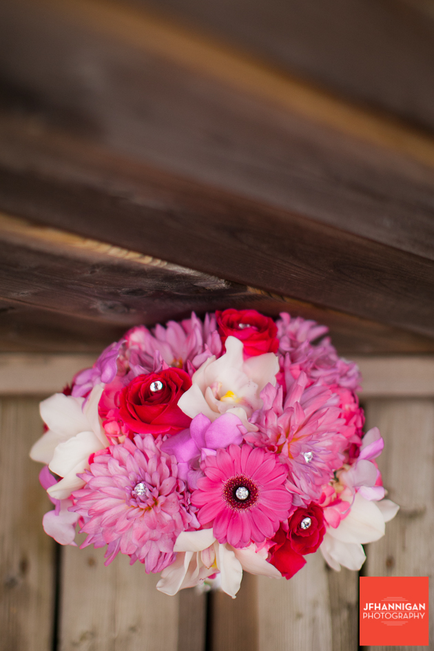 bridal bouquet in pind