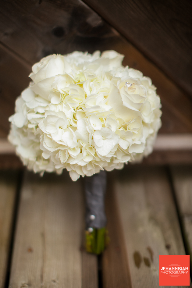 bridesmaid's bouquet in white