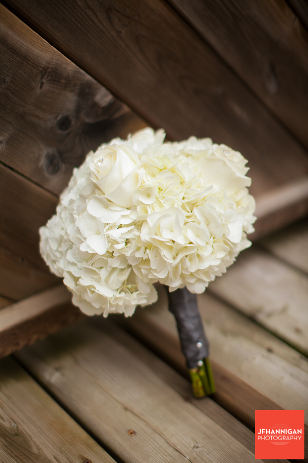 bridesmaid bouquet in white