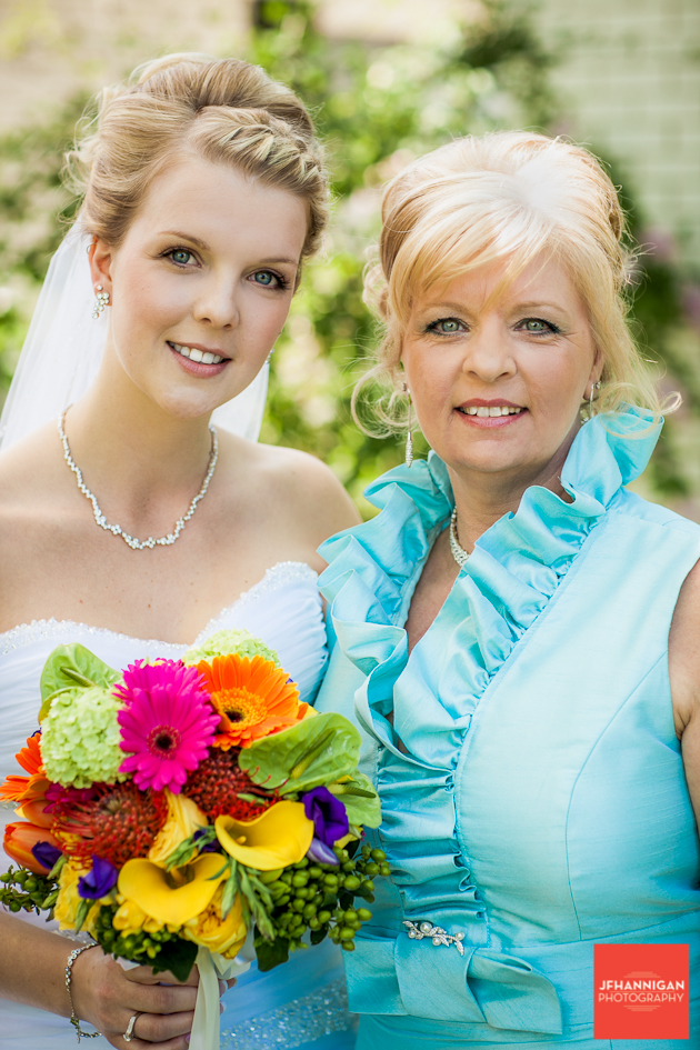 mother and daughter before wedding