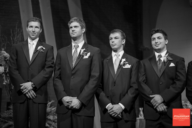 groomsmen in suits black and white