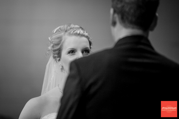 bride over grooms shoulder