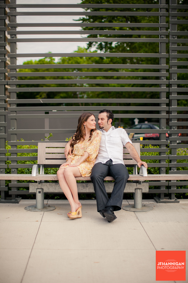 couple sitting on bench, Burlington