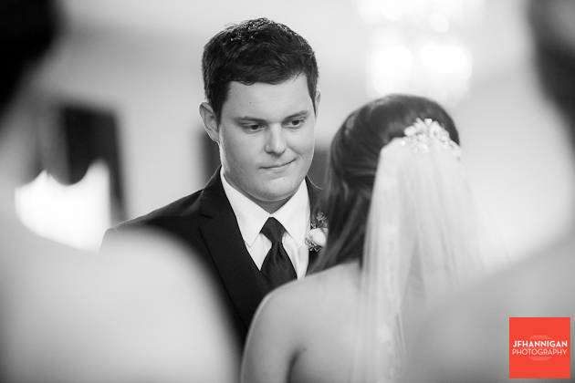 groom during exchange of vows