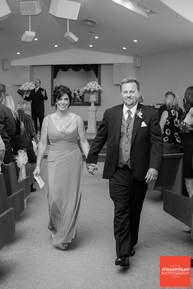 groom's parent exit wedding ceremony