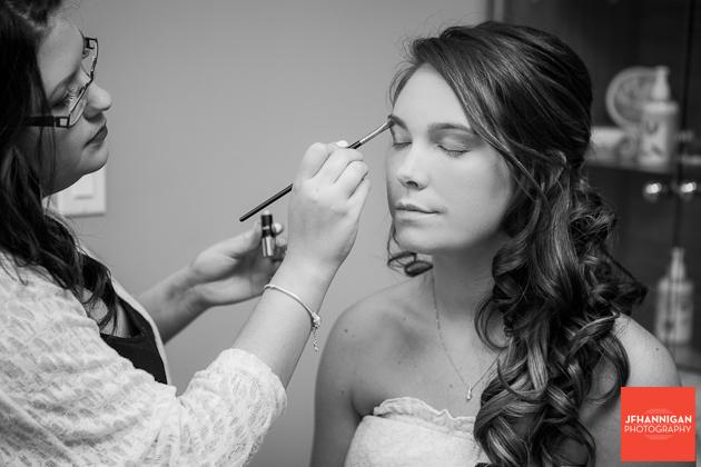 eye shadow wedding preparations