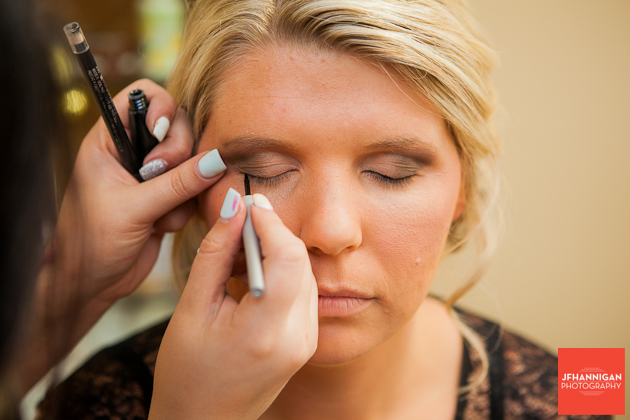 eye liner bridal party preparations