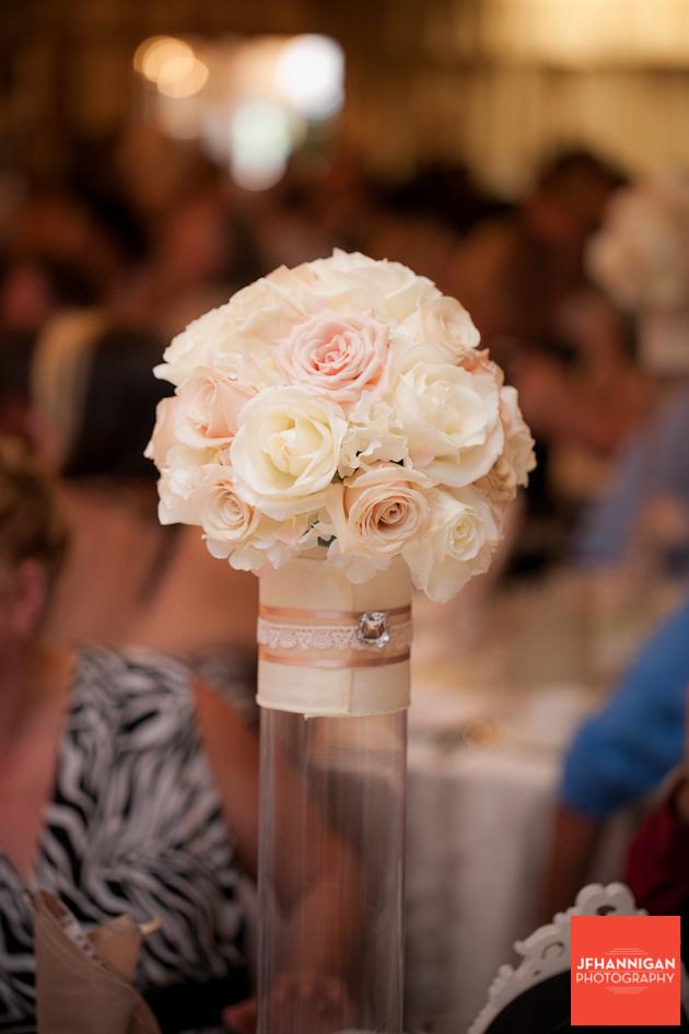reception table flower arrangements