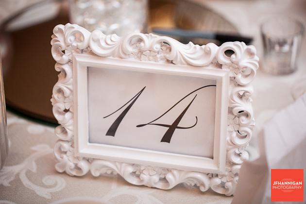 wedding recpteion table number