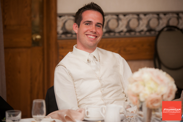 groomsman at wedding reception