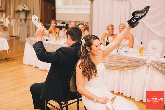 wedding recption shoe game