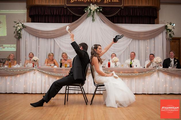 Shoe game at wedding recption