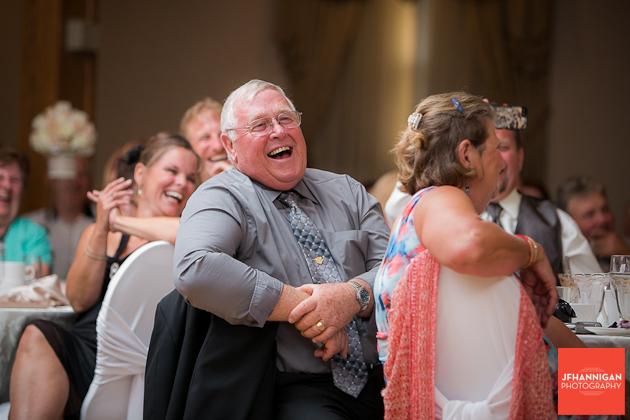 wedding reception guest enjoy speeches