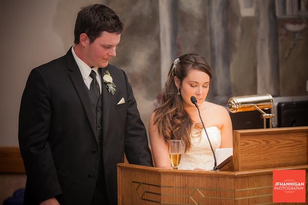 bride's recption speech