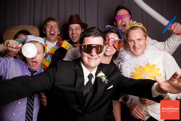 groom with photbooth guest