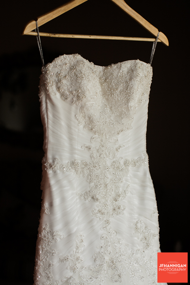 front of bridal gown