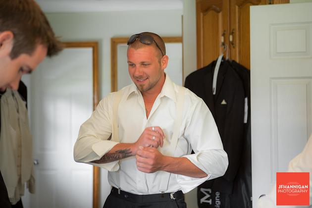 groomsmen in wedding day preparation