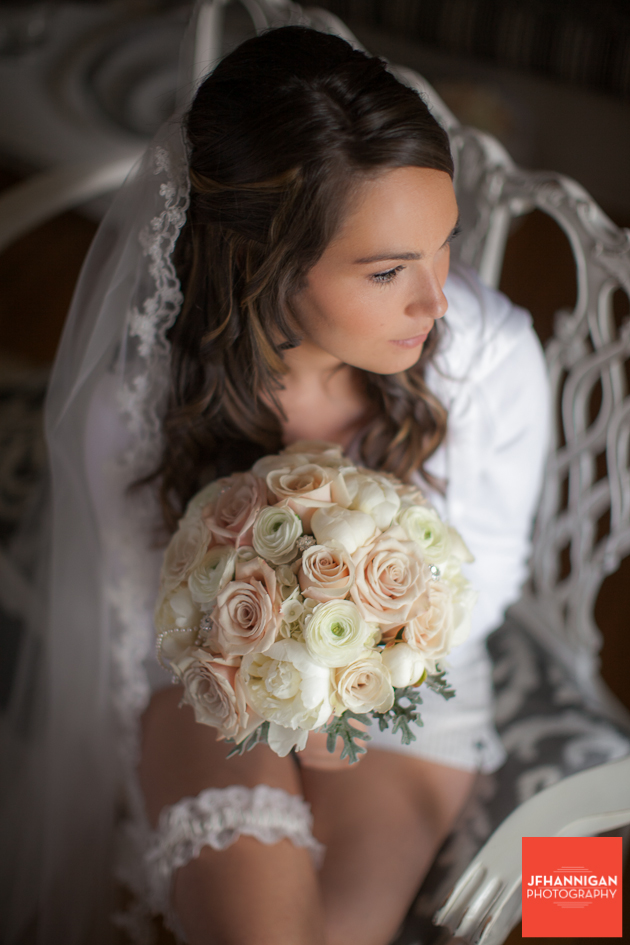 bride and bouquet of roses