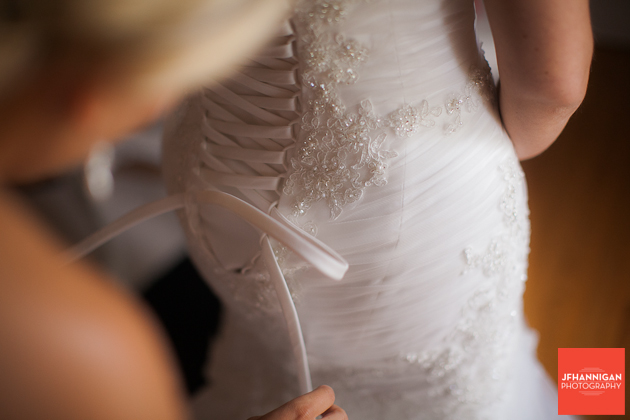 lacing up bridal gown