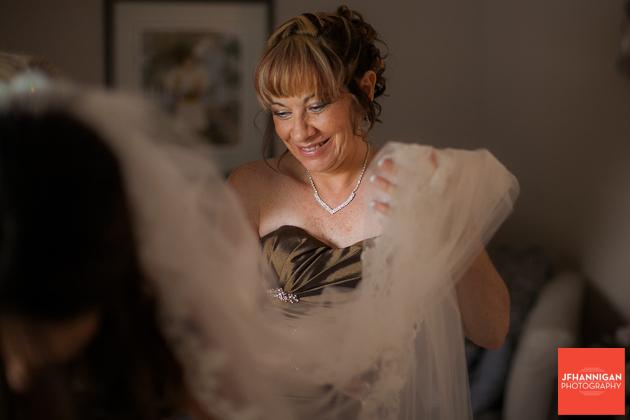 bridesmaid with veil